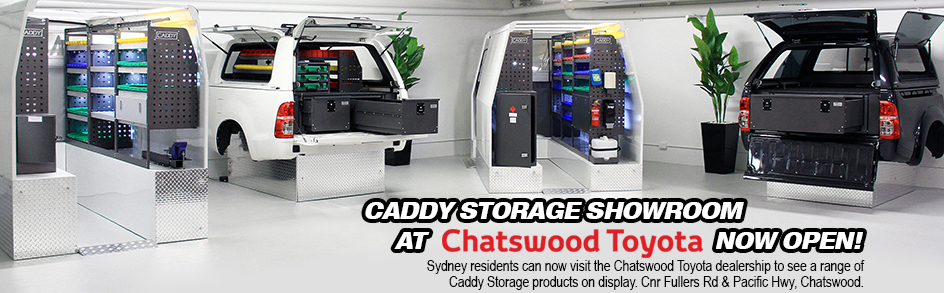 Caddy Vehicle Shelving Systems And Storage Solutions Now At Chatswood Toyota